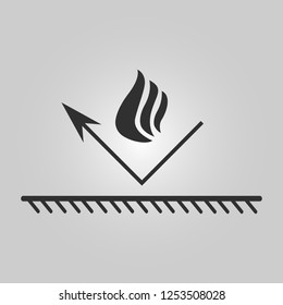 Fire resistant coating icon - fireproof illustration - bonfire