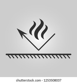 Fire resistant coating icon - fireproof illustration