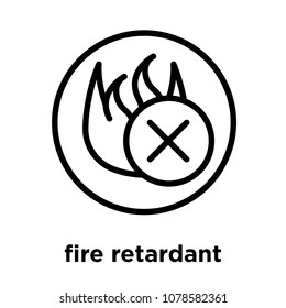 fire pany images stock photos vectors shutterstock National Fire Alarm Symbols fire retardant icon isolated on white background vector illustration
