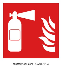Fire safety icon. Fire emergency icon.