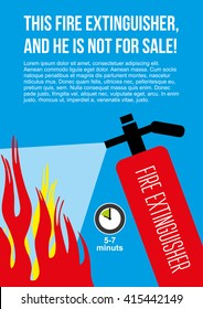 Fire safety poster. eliminate fire extinguisher.