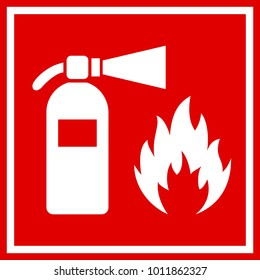 Fire safety red vector banner illustration isolated on white background
