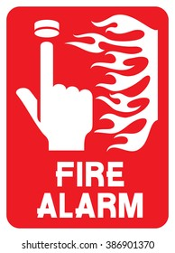 fire safety sign (alarm call point)