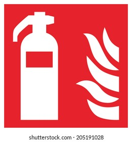 Fire safety sign FIRE EXTINGUISHER