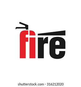 fire safety tool. logo. vector.