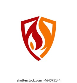 Fire and Shield Logo