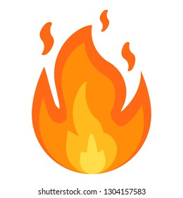 Fire sign. Fire flames icon isolated on white background. Vector illustration. Eps 10