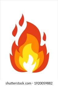 fire symbol icon vector illustration