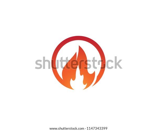 Fire symbol illustration