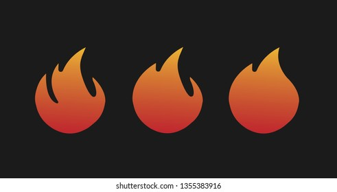 Fire symbols of the four elements