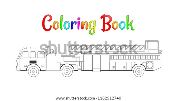 fire truck colouring in – coursity.me | 344x600