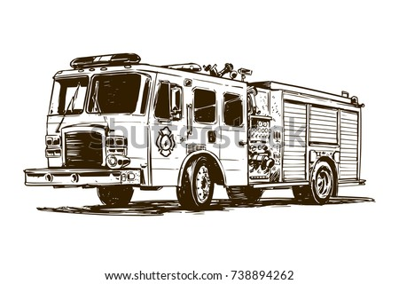 fire truck drawing stock vector royalty free 738894262 shutterstock