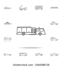 Fire truck icon. Detailed set of transport outline icons. Premium quality graphic design icon. One of the collection icons for websites, web design, mobile app on white background