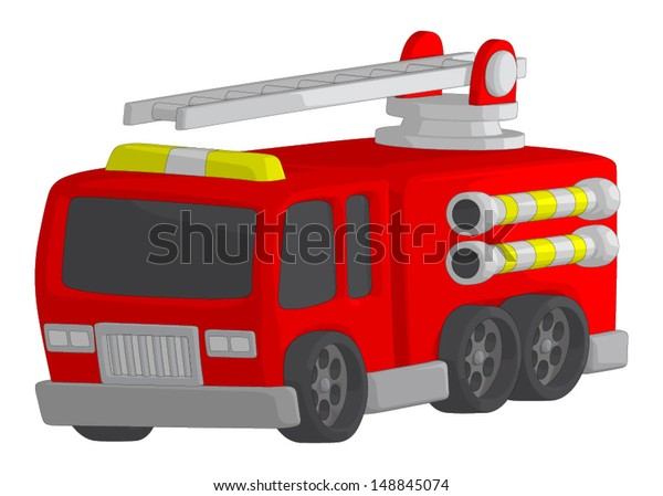 Fire Truck isolated on a white background.