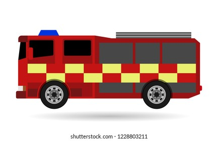 fire truck, white background