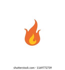 Fire vector flat illustration