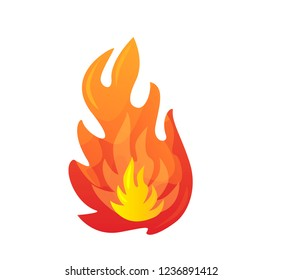 Fire vector. Isoleted