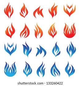 Fire Vector Set