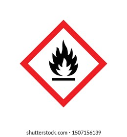 Fire warning sign isolated on white background. Flammable symbol modern, simple, vector, icon for website design, mobile app, ui. Vector Illustration