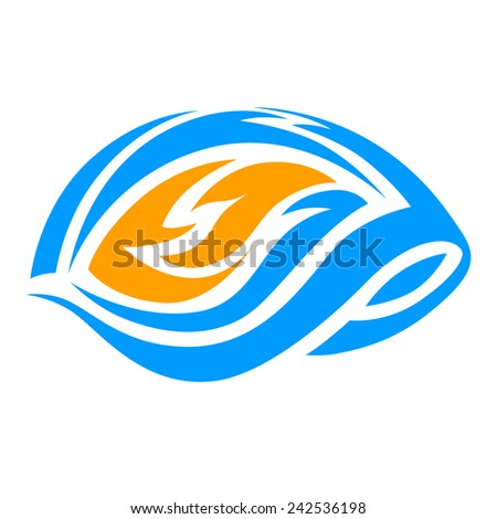 Fire Water Symbol Stock Vector Royalty Free 242536198 Shutterstock