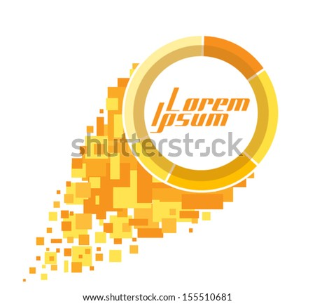 fireball logo template can be used stock vector royalty free