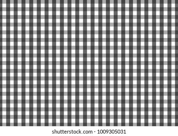 Firebrick Gingham black and white  pattern. Texture from rhombus/squares for - plaid, tablecloths, clothes, shirts, dresses, paper and other textile products.