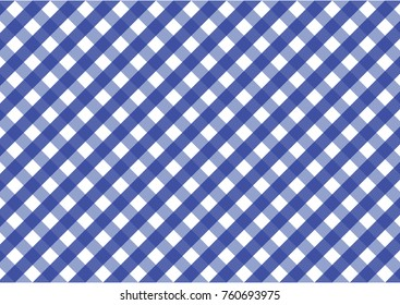 Firebrick Gingham blue and white pattern. Texture from rhombus/squares for - plaid, tablecloths, clothes, shirts, dresses, paper and other textile products.