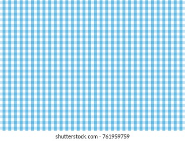 Firebrick Gingham light blue and white pattern. Texture from rhombus/squares for - plaid, tablecloths, clothes, shirts, dresses, paper and other textile products.
