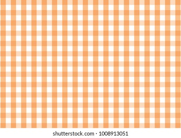 Firebrick Gingham  orange and white pattern. Texture from rhombus/squares for - plaid, tablecloths, clothes, shirts, dresses, paper and other textile products.