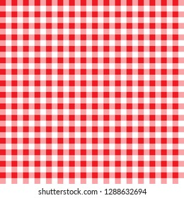 firebrick gingham pattern. textured red and white plaid background. tablecloth background red seamless pattern. the pattern for textiles. retro tablecloth texture. red gingham.