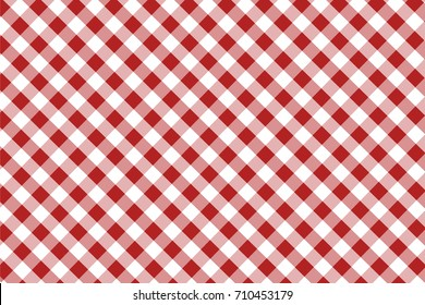 Firebrick Gingham seamless pattern. Texture from rhombus/squares for - plaid, tablecloths, clothes, shirts, dresses, paper, bedding, blankets, quilts and other textile products. Vector illustration.