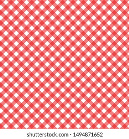 Firebrick Gingham seamless pattern.red Seamless Tiling Pattern.Vector illustration.