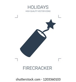 firecracker icon. high quality filled firecracker icon on white background. from holidays collection flat trendy vector firecracker symbol. use for web and mobile