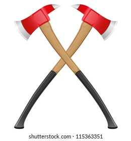 firefighter ax vector illustration isolated on white background