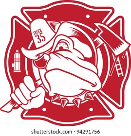 firefighter bulldog