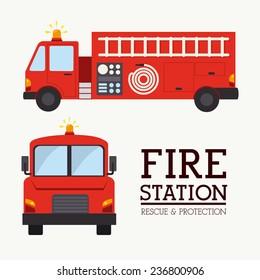 Firefighter design over white background, vector illustration.