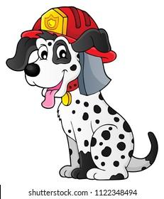 Firefighter dog theme 1 - eps10 vector illustration.