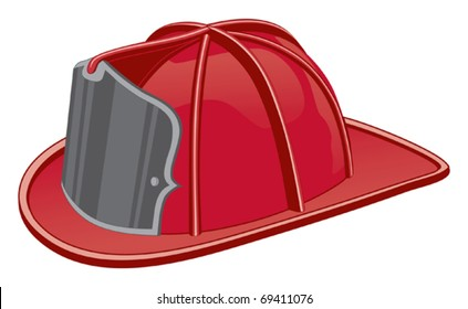 Firefighter Helmet or Fireman Hat is a three color illustration that can be easily edited or separated for print or screen print.