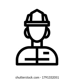 firefighter icon or logo isolated sign symbol vector illustration - high quality black style vector icons