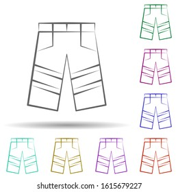 Firefighter, pants in multi color style icon. Simple thin line, outline vector of firefighter icons for ui and ux, website or mobile application