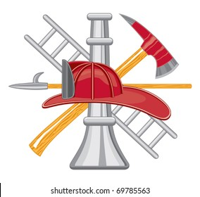 Firefighter Tools Logo is a five color illustration that can be easily edited or separated for print or screen print. Each tool is on a separate layer for your convenience.