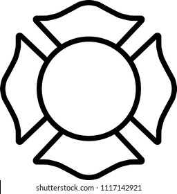 Firefighter White Emblem St Florian Symbol