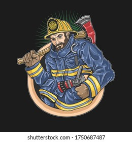 firefighters eagerly to save lives ilustration vector