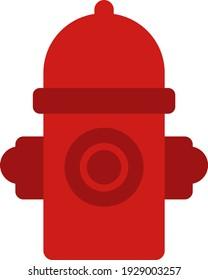 Firefighting firehydrant , illustration, vector on white background.