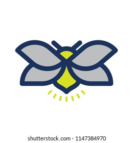 Fireflies logo icon vector illustration