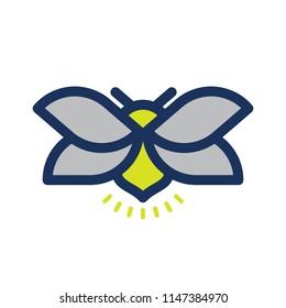 Fireflies logo icon vector illustration