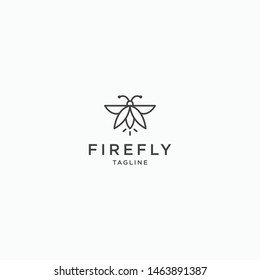 Firefly Logo Icon Design Template. Modern and Minimalist - Vector