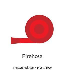Firehose in cartoon style, marine card for kid, preschool activity for children, vector illustration