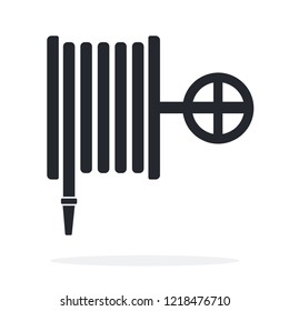 Firehose vector flat icon isolated on white