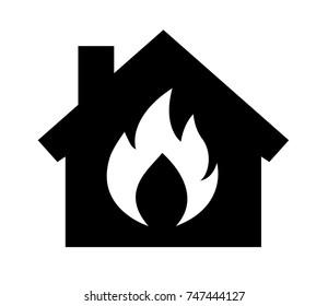 firehouse icon, vector, illustration